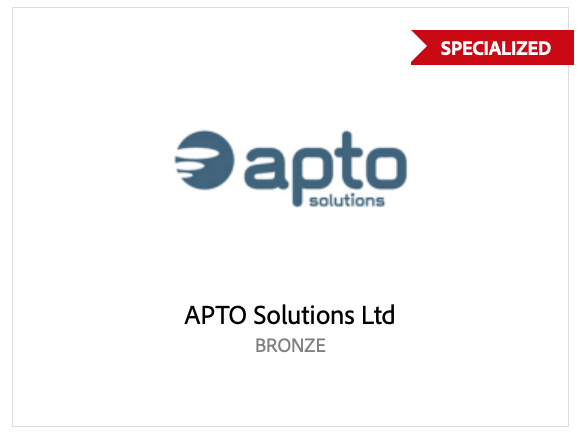 Apto Solutions are a Adobe Specialised Partner